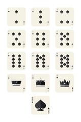 spades playing card set