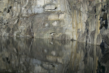 Beautiful lake at an old quarry in Sweden (stenhamra)