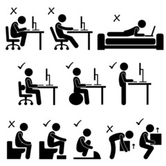 Good and Bad Human Body Posture