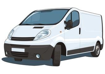 Vector isolated commercial van