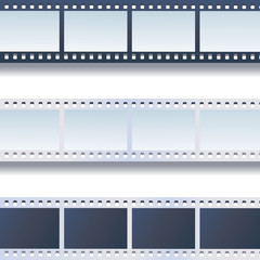 Photo - film tapes vector set