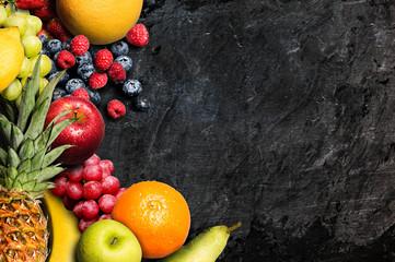 Fruits on a Blackboard