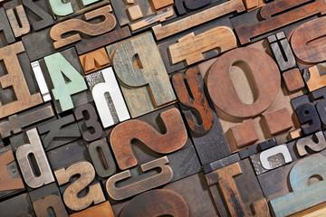 Vintage letterpress type background