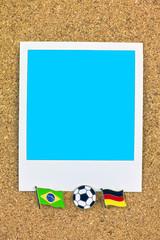 ポラロイド サッカー 国旗のピン ブラジル ドイツ