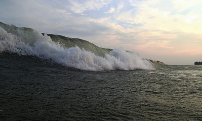 Beautiful Sea Wave. Evening. Vietnam.