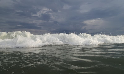 Beautiful Sea Wave. Sunlight. Vietnam.