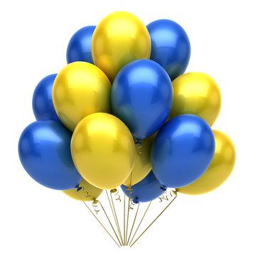 Blue Yellow Balloons