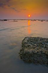 phuket evening light on the beach clear sky