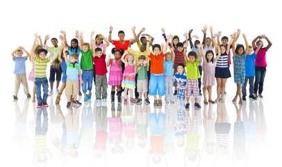Group of Children Celebrating