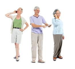 Senior Adults Using Communication Device