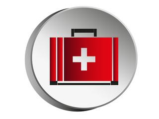 Medicine Bag.Symbol of medical icons design.