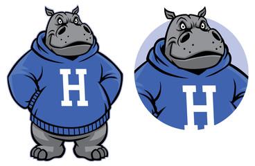 hippo mascot