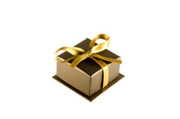 Brown box with a gift