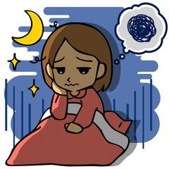 不眠に悩む