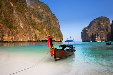 Maya bay or Ao Maya, Krabi, The most beautiful beach in Thailand