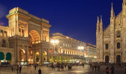 Foto op Canvas Milan Piazza Duomo, Milan