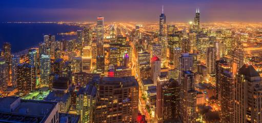Photo sur Toile Chicago Chicago skyline