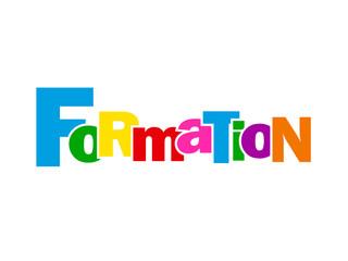 """Mosaïque de Lettres """"FORMATION"""" (études diplômes cv éducation)"""