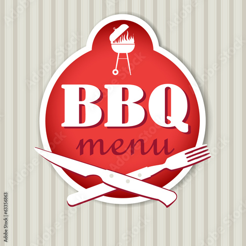 bbq menu template for restaurant stock image and royalty free