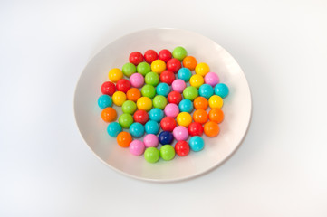 Gum Balls on the Plate.