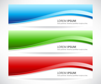 Vector set of abstract banner