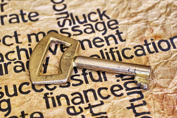 Finance and golden key