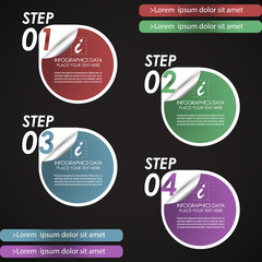 Modern infographic option banner - template