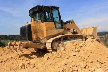 Wall Mural - bulldozer en action