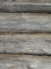 Wooden log walls. background