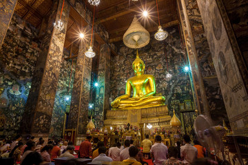 Golden Buddha statue Sutat Temple , Thailand