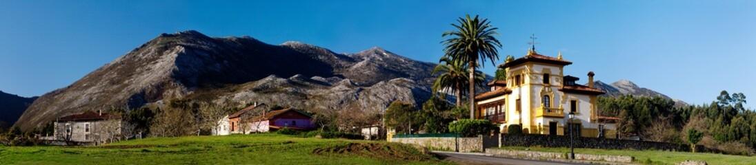 Landscape in Asturias.
