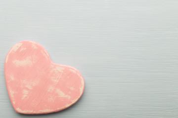 Pink heart.