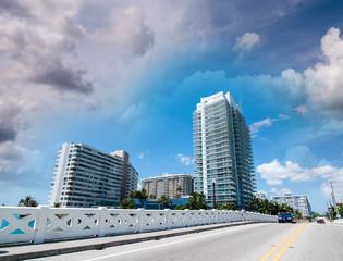 Beautiful cityscape of Miami, Florida