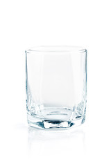 Empty glass for whiskey isolated