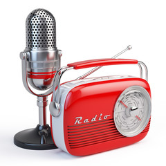 Microphone and retro radio