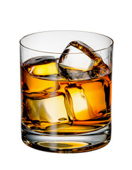 Fototapete - Glass of Scotch whiskey with ice