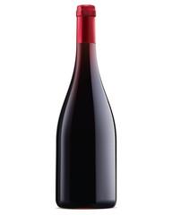 Burgundy red wine bottle. Vector illustration
