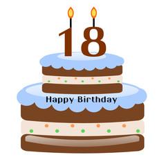 Torta di compleanno per i 18 anni