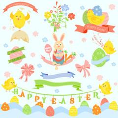 Happy Easter Design Element