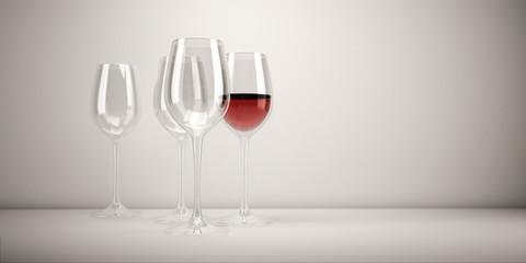 Weingläser, Glas, Restaurant