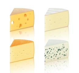 Morceaux de fromages vectoriels 1