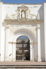 Entrance to the ruins of the cathedral of Antigua