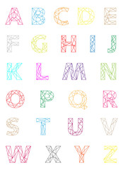 colorful stitched alphabet