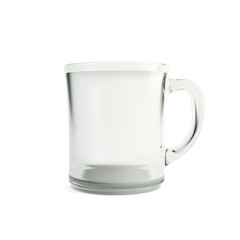 Cup of water isolated