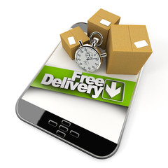 online purchase from tablet, free delivery