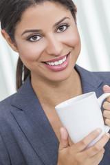 Woman Drinking Tea or Coffee