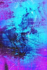 Abstrakte Farbkomposition mit Pink