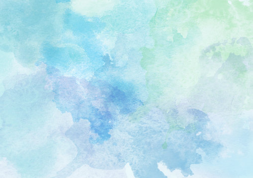 Beautiful Blue Watercolor Background