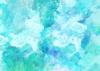 Beautiful Sea Watercolor Background