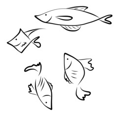 vector icon fish images